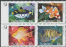 AUSTRALIA Reprint SG3408a 60c Fishes of the Reef block of 4 - 1 Koala